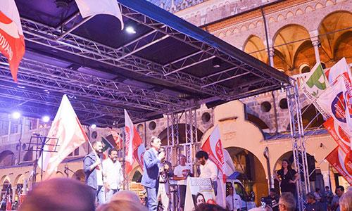 palco comizio elettorale service palco amplificazione tecnosound campagna elettorale